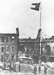 Fort Sumter following its capture